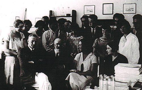 K. Demel i M. Siedlecki z uczestnikami kursu biologii morza - lipiec 1929