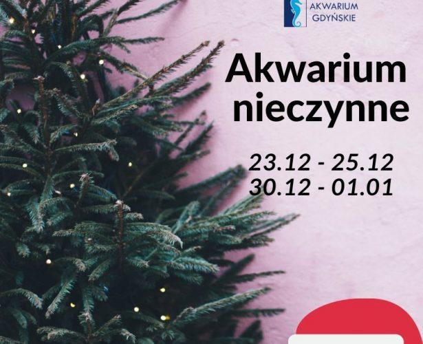 Dni otwarcia Akwarium w okresie świątecznym