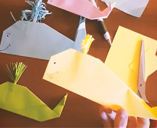 Origami – wieloryb