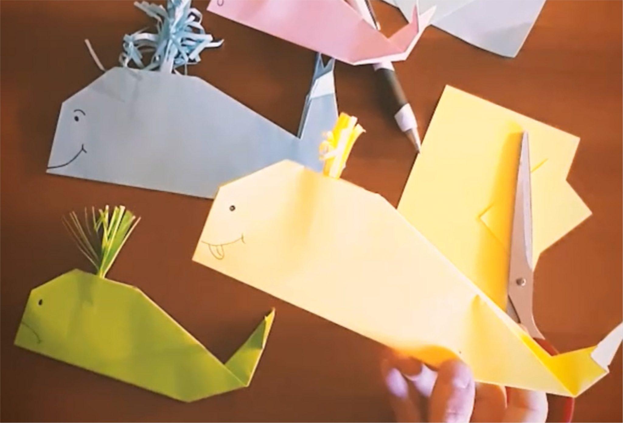 Origami - wieloryb