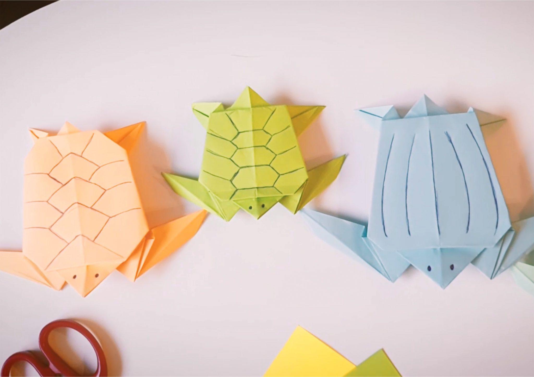 Origami - żółw morski