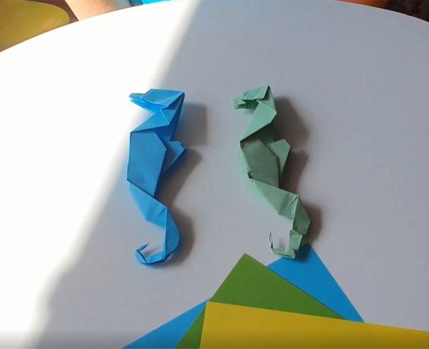 Origami – konik morski